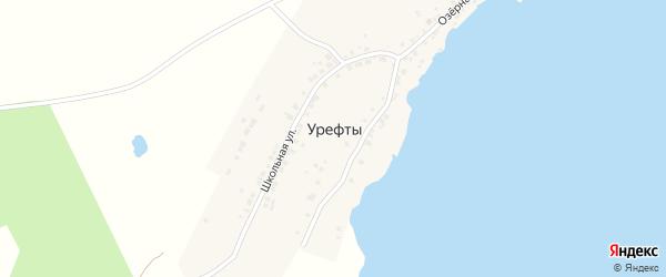 Цветочный переулок на карте деревни Урефты с номерами домов