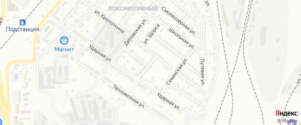 Физкультурная улица на карте Челябинска с номерами домов