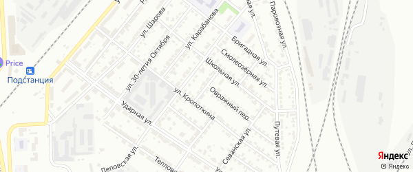 Улица Щорса на карте Челябинска с номерами домов