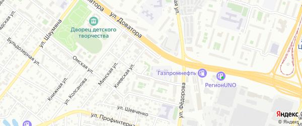 Улица Осоавиахима на карте Челябинска с номерами домов