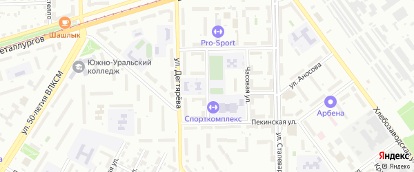 Большевистская улица на карте Челябинска с номерами домов