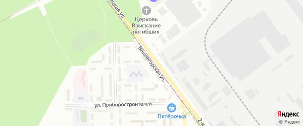 Вишнегорская улица на карте Челябинска с номерами домов