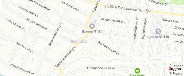 Барнаульская улица на карте Челябинска с номерами домов