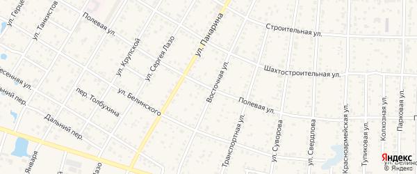 Полевая улица на карте Коркино с номерами домов