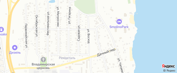 Улица Восход на карте Челябинска с номерами домов