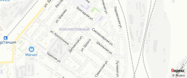 Школьная улица на карте Челябинска с номерами домов
