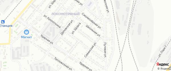 Овражный переулок на карте Челябинска с номерами домов