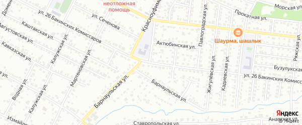 Улица 26 Бакинских Комиссаров на карте Челябинска с номерами домов