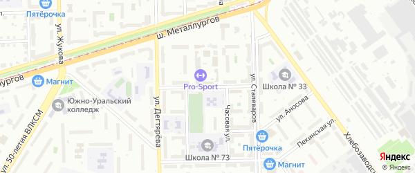 Улица Пятницкого на карте Челябинска с номерами домов
