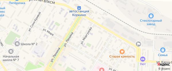 Улица Моргунова на карте Коркино с номерами домов