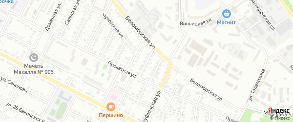 Чукотский 1-й переулок на карте Челябинска с номерами домов