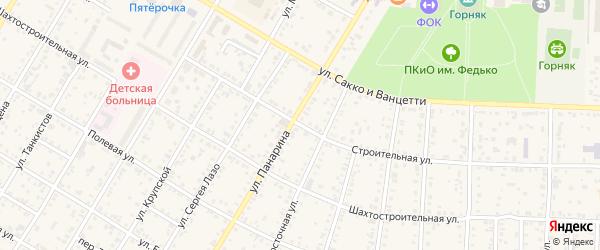 Строительная улица на карте Коркино с номерами домов
