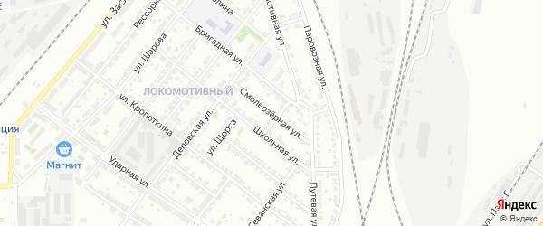 Смолеозерная улица на карте Челябинска с номерами домов