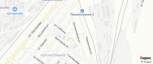 Локомотивная улица на карте Челябинска с номерами домов