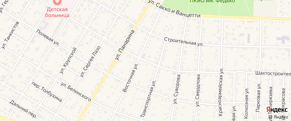 Шахтостроительная улица на карте Коркино с номерами домов