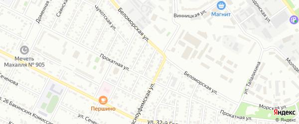 Чукотский 2-й переулок на карте Челябинска с номерами домов