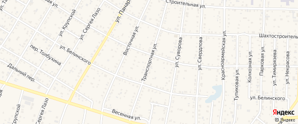 Транспортная улица на карте Коркино с номерами домов