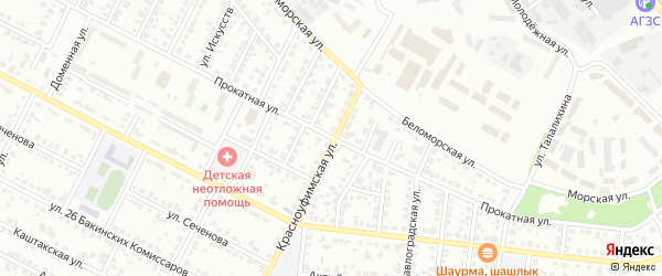 Прокатная улица на карте Челябинска с номерами домов