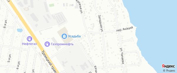 Казачья улица на карте Челябинска с номерами домов