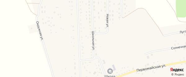 Школьная улица на карте поселка Ясные Поляны с номерами домов