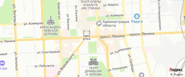 Карта поселка Мелькомбината 2 участка 1 города Челябинска в Челябинской области с улицами и номерами домов