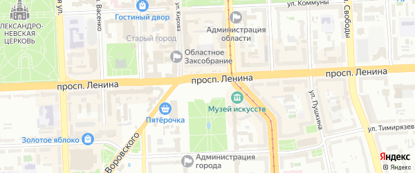 Территория ГСК 508 по ул Молодова улица 9 на карте Челябинска с номерами домов