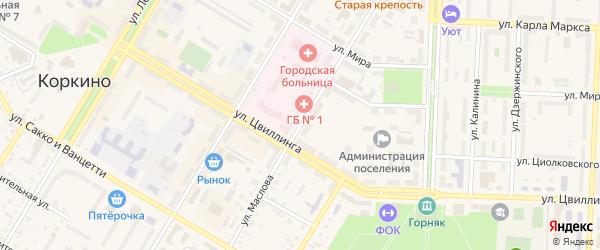 Улица Маслова на карте Коркино с номерами домов