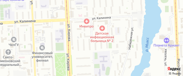 Береговая улица на карте Челябинска с номерами домов