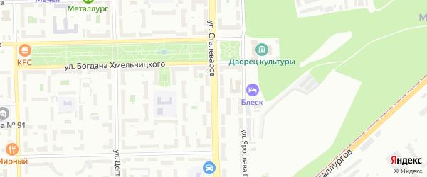 Улица Сталеваров на карте Челябинска с номерами домов