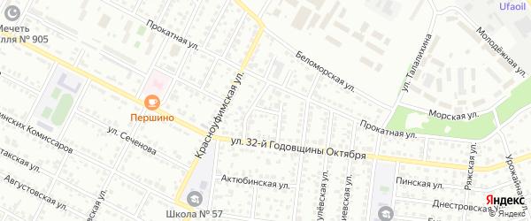Штанговый 2-й переулок на карте Челябинска с номерами домов