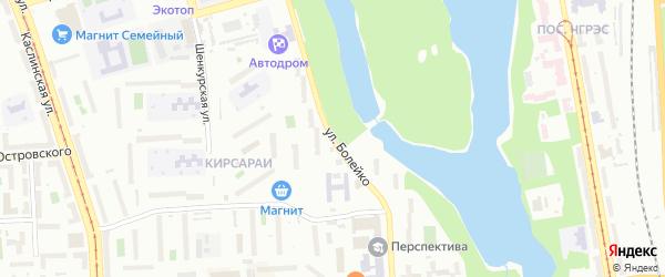 Улица Болейко на карте Челябинска с номерами домов