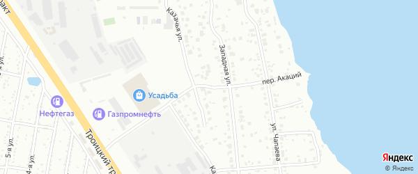 Акаций переулок на карте Челябинска с номерами домов