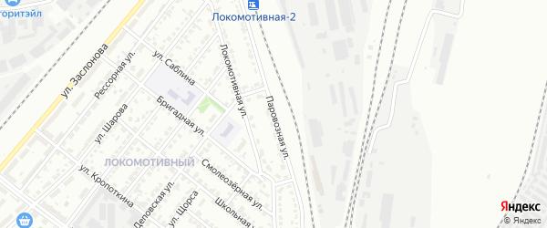 Паровозная улица на карте Челябинска с номерами домов
