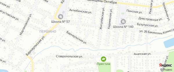 Барнаульский переулок на карте Челябинска с номерами домов