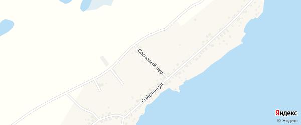 Сосновый переулок на карте деревни Урефты с номерами домов
