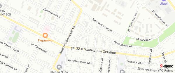 Штанговый 3-й переулок на карте Челябинска с номерами домов