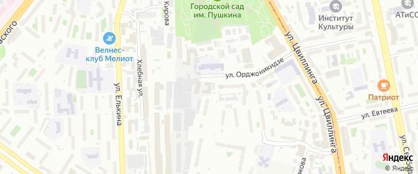 Территория ГСК 202 участок по ул Орджоникидзе 43 на карте Челябинска с номерами домов