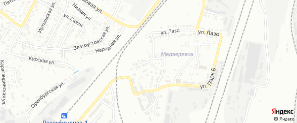 Опытная улица на карте Челябинска с номерами домов