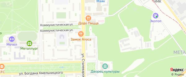 Территория ГСК 517 филиал 2 по ул Гашека на карте Челябинска с номерами домов