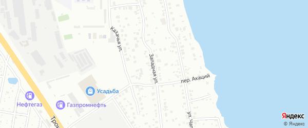Улица Западная (Сухомесово) на карте Челябинска с номерами домов
