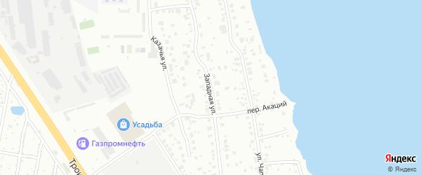 Улица Западная (Шершни) на карте Челябинска с номерами домов