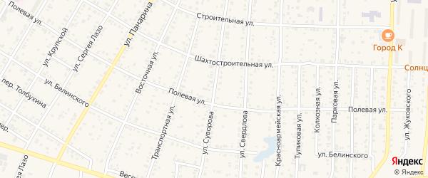 Улица Суворова на карте Коркино с номерами домов
