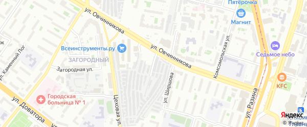 Улица Желябова на карте Челябинска с номерами домов