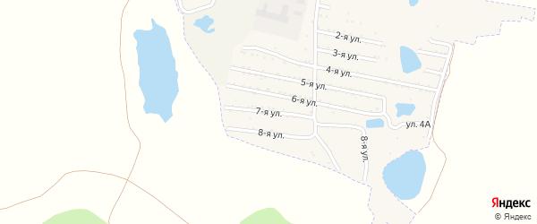 Седьмая улица на карте садового товарищества Динамовца с номерами домов