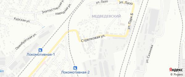 Стрелковая улица на карте Челябинска с номерами домов