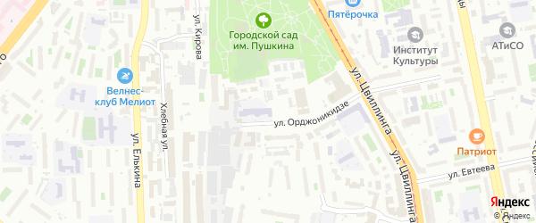 Территория ГСК 202 участок по ул Орджоникидзе 50 на карте Челябинска с номерами домов