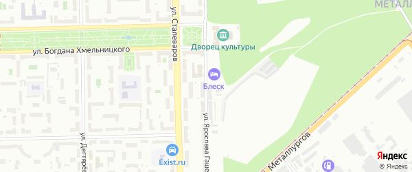 Улица Ярослава Гашека на карте Челябинска с номерами домов