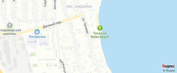 Улица Чапаева (Новосинеглазово) на карте Челябинска с номерами домов