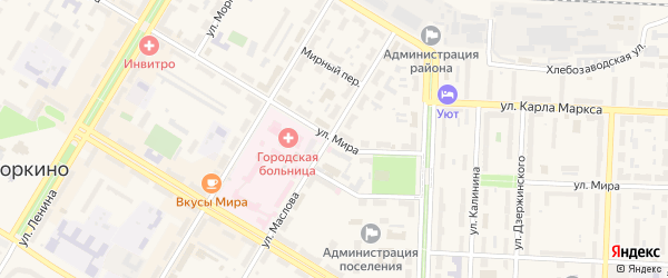 Улица Мира на карте Коркино с номерами домов