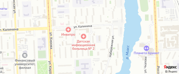 Университетская Набережная улица на карте Челябинска с номерами домов
